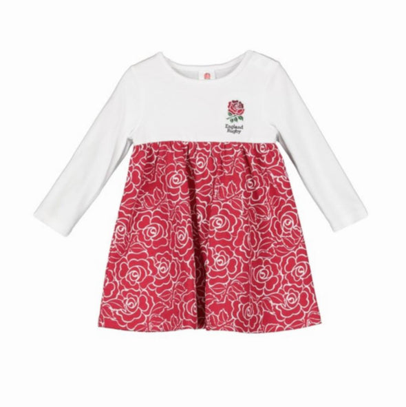 England RFU Rugby Baby/Toddler Girls Rose Print Dress | 2019/20