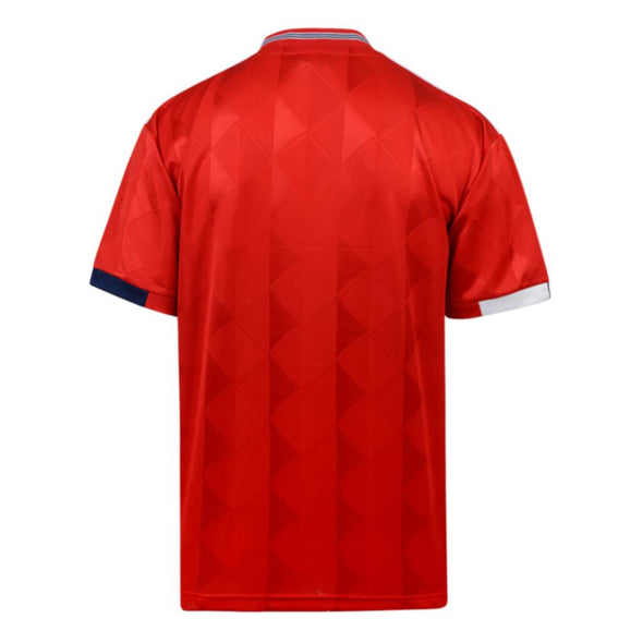 Official England Football Men's 1989 Retro Away Shirt | Red
