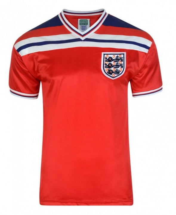 England 1982 World Cup Retro Away Shirt - Red