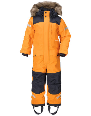 Didriksons Bjornen 2 Kids Snowsuit - Bright Orange