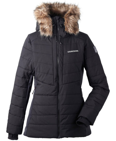 Didriksons Ona Womens Padded Jacket - Black
