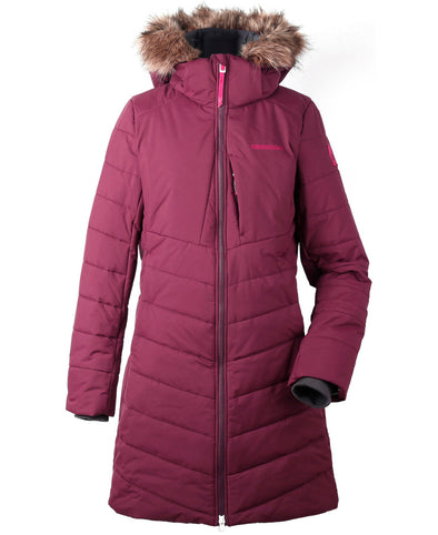 Didriksons Natasha Womens Padded Parka - Wine Red