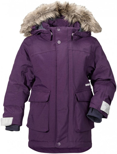 Didriksons Kure Kids Parka Jacket - Berry Purple