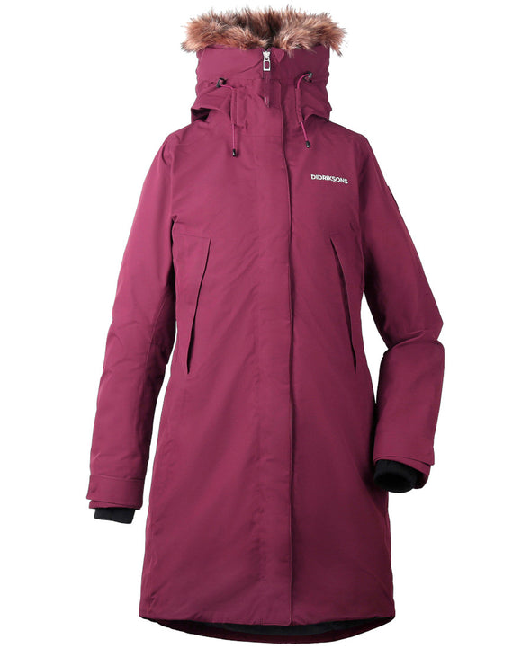Didriksons Nadine Womens Padded Parka - Wine Red
