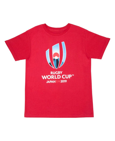 Rugby World Cup 2019 Kids Large Logo T-Shirt | Red