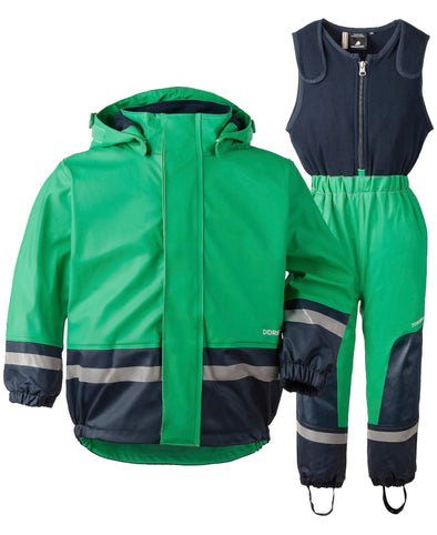 Didriksons Boardman Kids 2 Waterproof Set - Green