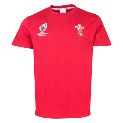 Rugby World Cup 2019 Wales Men's Cotton T-Shirt | Red