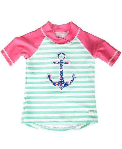 Banz Girls UV Short Sleeved Rash Top | Anchor
