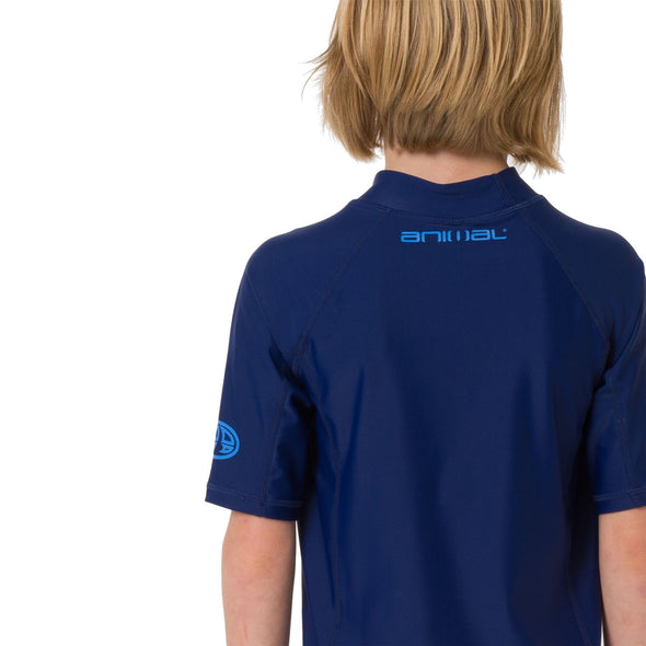 Animal Kids Hiltern Short Sleeve Rash Top | Nautical Blue