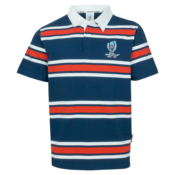 Rugby World Cup 2019 Men's Stripe Rugby Shirt | Navy
