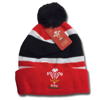 Wales WRU Rugby Bobble Hat | 2018/19 Season