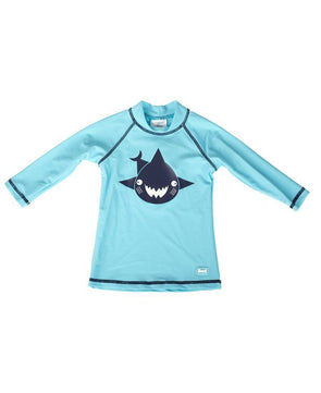 Banz Kids UV Long Sleeved Rash Top | Shark | Turquoise