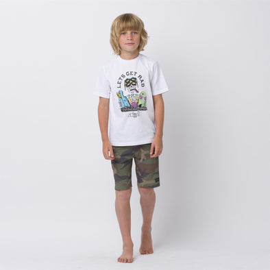 Animal Kids Get Rad T-shirt | White