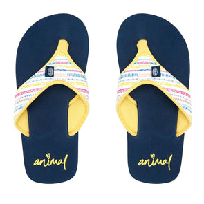 Animal Girls Swish Upper AOP Flip Flops | Multi