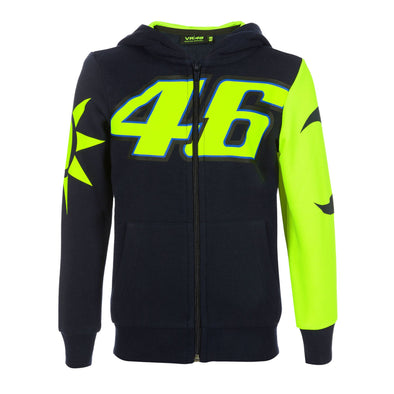 MotoGP Valentino Rossi Kids Sun and Moon Hoodie | Navy | 2019