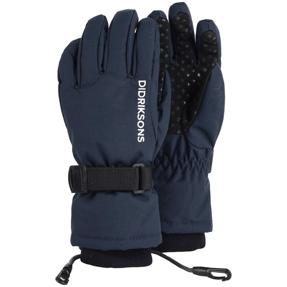 Didriksons Biggles Five Kids Waterproof Gloves | Navy