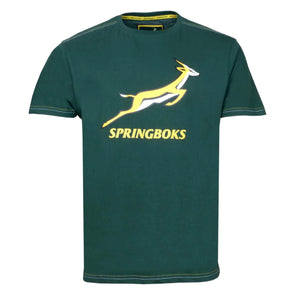 South Africa Rugby Springboks Men's Large Logo T-Shirt | Green | 2019/20 Season