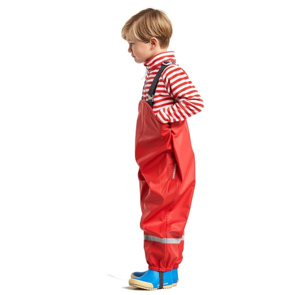 Didriksons Plaskeman 2 Kids Waterproof Trousers | Chili Red