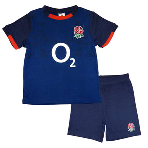 England RFU Rugby Alternate Baby/Toddler T-Shirt & Shorts Set | Blue | 2020/21
