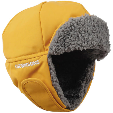 Didriksons Biggles 3 Kids Winter Hat | Oat Yellow