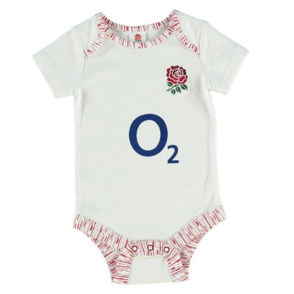 England RFU Rugby Baby 2 Pack Bodysuits | White/Red | 2019/20