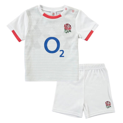 England RFU Rugby Baby/Toddler T-Shirt & Shorts Set | White | 2020/21