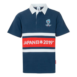 Rugby World Cup 2019 Kids Panel Rugby Shirt | Navy