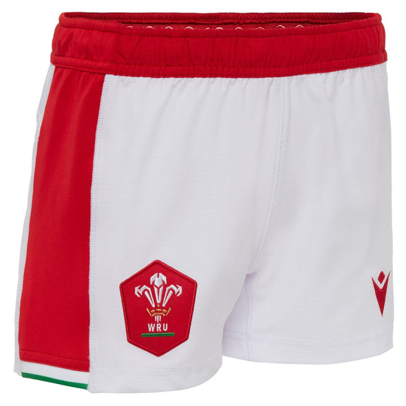 Macron Wales Rugby Kids Home Replica Shorts | White | 2020/21