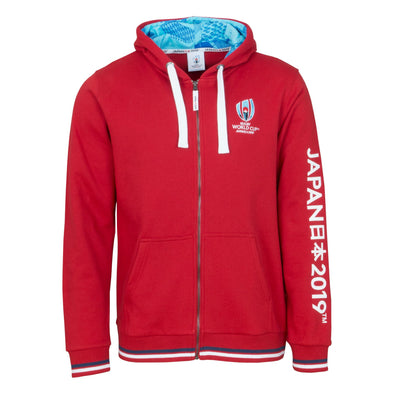 Rugby World Cup 2019 Mens Full Zip Hoodie | Red