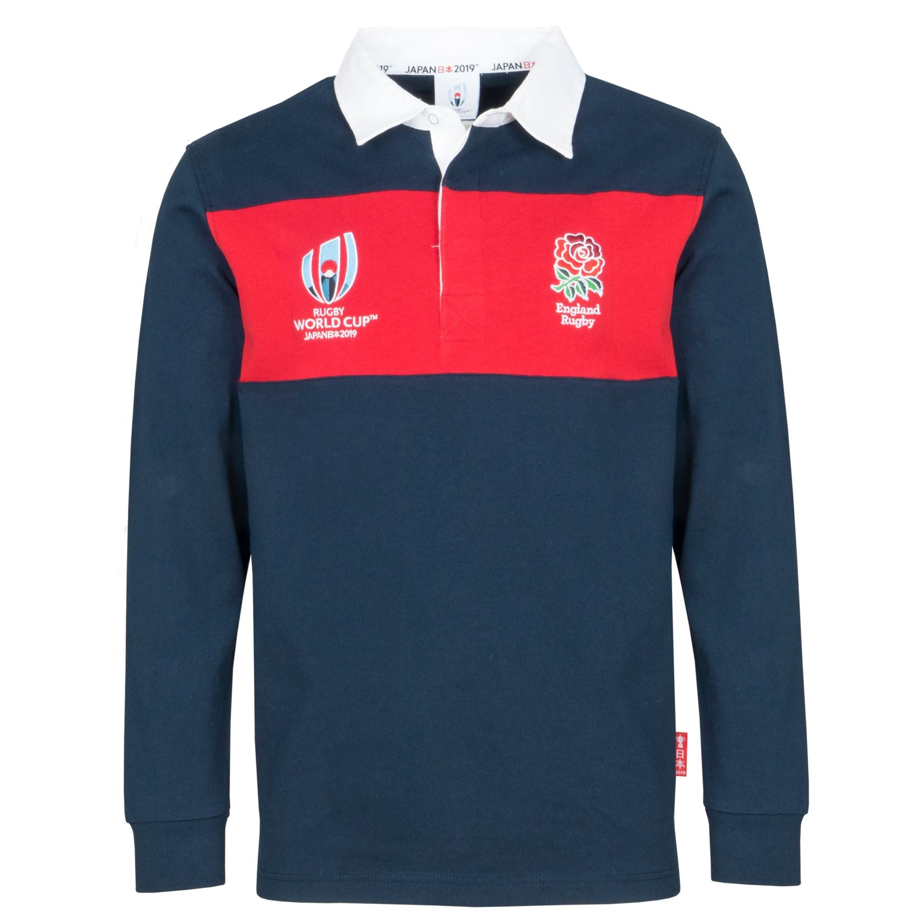 00c3e7435d5 Rugby World Cup 2019 England Men's L/S Panel Rugby Shirt | Navy/Red ...