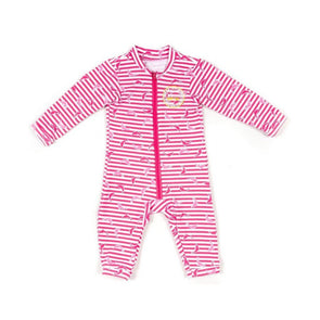 Jakabel Baby Dolphin UV Sun Protection Romper - Pink - 0-6m
