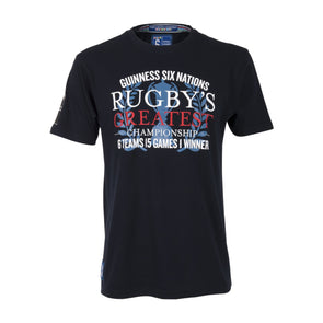 Guinness 6 Nations Rugby Mens Greatest Championship T-shirt | Navy | 2019