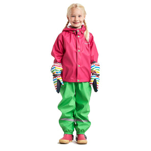 Didriksons Slaskeman Kids Waterproof Set | Fuchsia