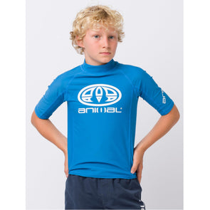 Animal Kids Hiltern Short Sleeve Rash Top | Mediterranian Blue