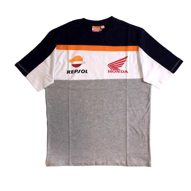 Repsol Honda Mens Orange Tape T-Shirt | Grey | 2019