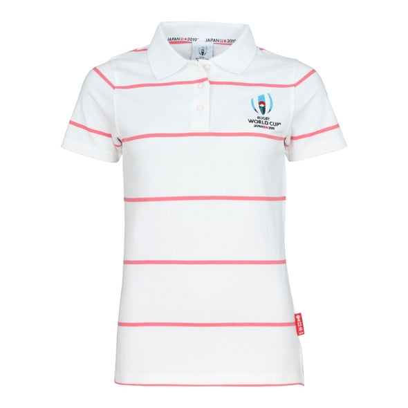 Rugby World Cup 2019 Women's Stripe Jersey Polo | White