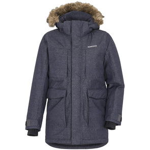 Didriksons Madi Boys Parka | Dark Denim Blue
