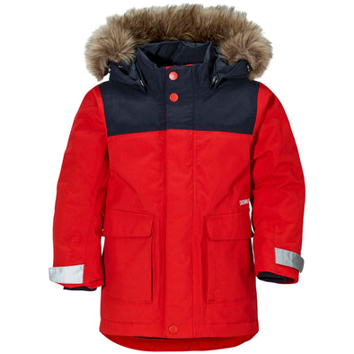 Didriksons Kure 2 Kids Parka Jacket | Chili Red