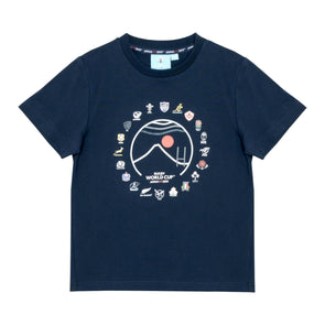 Rugby World Cup 2019 Kid's 20 Nations Mt Fuji T-Shirt | Navy