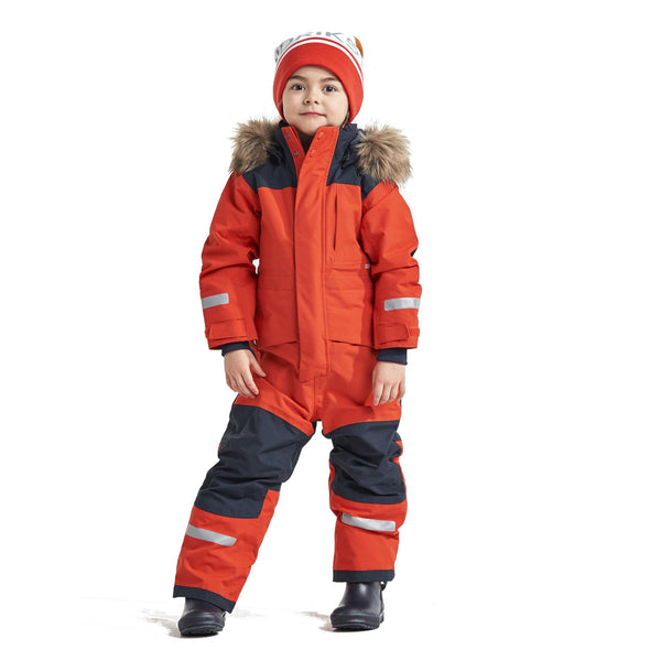 Didriksons Bjornen 4 Kids Snowsuit | Poppy Red