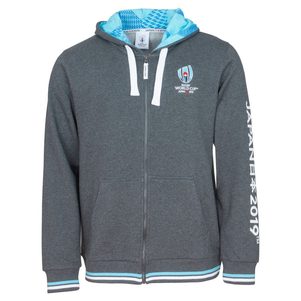 Rugby World Cup 2019 Mens Full Zip Hoodie | Charcoal Grey