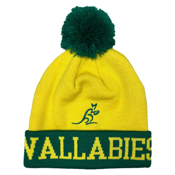 Australia Rugby Wallabies Bobble Beanie Hat | 2019/20 Season | Adult