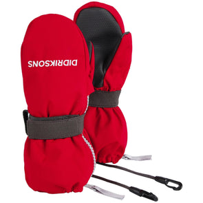 Didriksons Biggles 3 Waterproof Zip Mittens | Chili Red