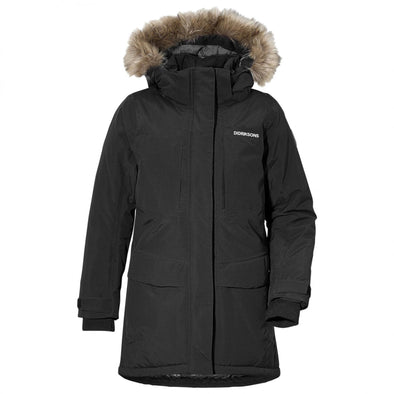 Didriksons Jamila Girls Parka | Black