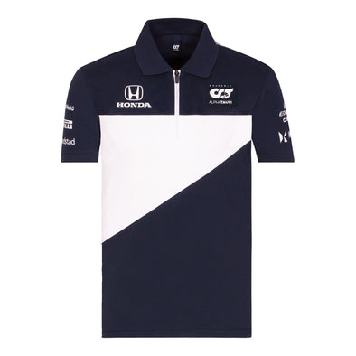 Scuderia AlphaTauri Men's Teamline Polo Shirt | Navy | 2021