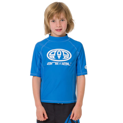 Animal Kids Hiltern Short Sleeve Rash Top | Seaport Blue