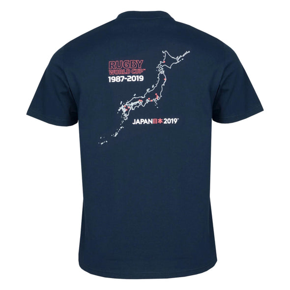 Rugby World Cup 2019 Men's 20 Nations Map T-Shirt | Navy
