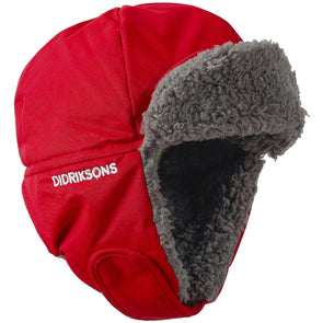 Didriksons Biggles 3 Kids Winter Hat | Chili Red