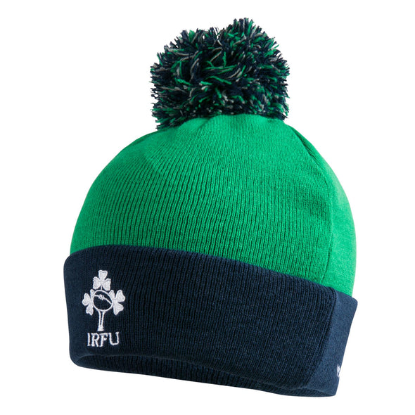 Canterbury Ireland IRFU Rugby Bobble Hat | Progressive Green | 2019 | One Size