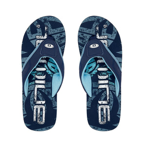 Animal Mens Jekyl Logo Flip Flops | Indigo Blue